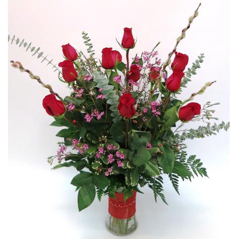 KD-RP Premium Dozen Roses