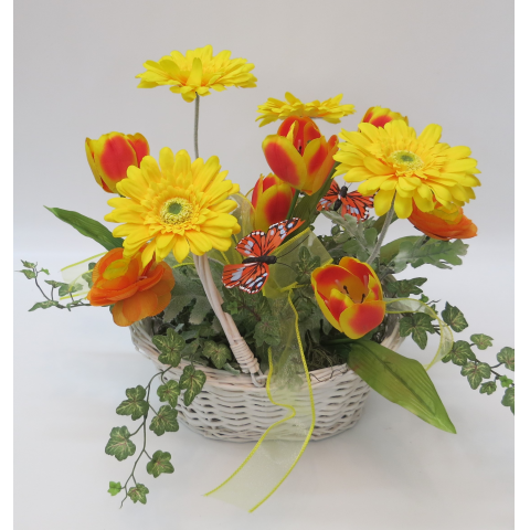 KS-84 Bright Yellows Silk Basket