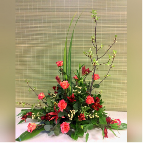 Uptown Custom Sympathy Arrangement C