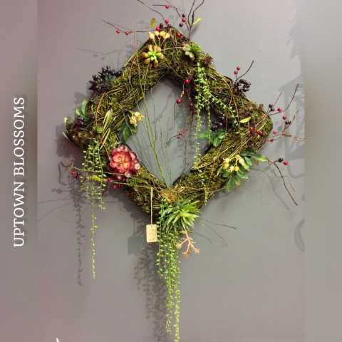 Succulent Fall Wreath