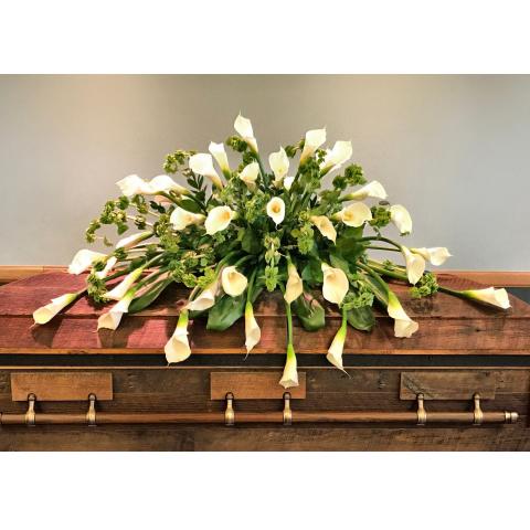 Calla lily casket