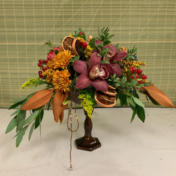 Upscale fall centerpiece