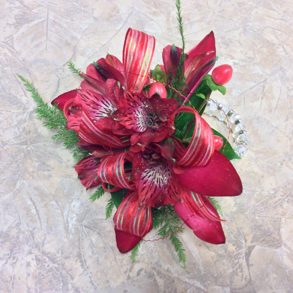 CUSTOM CORSAGE RED