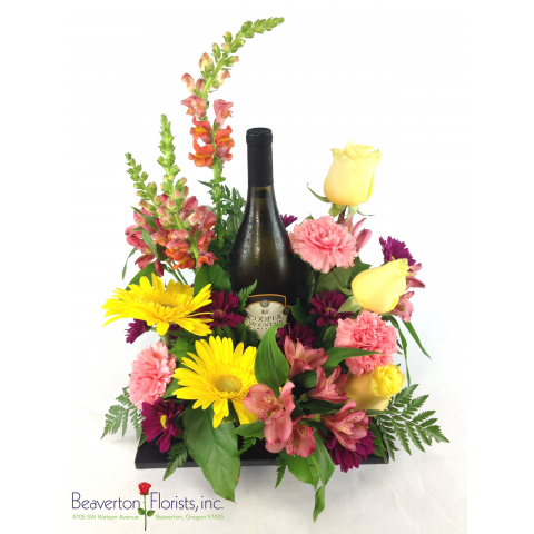 Wine & Flowers Bouquet
