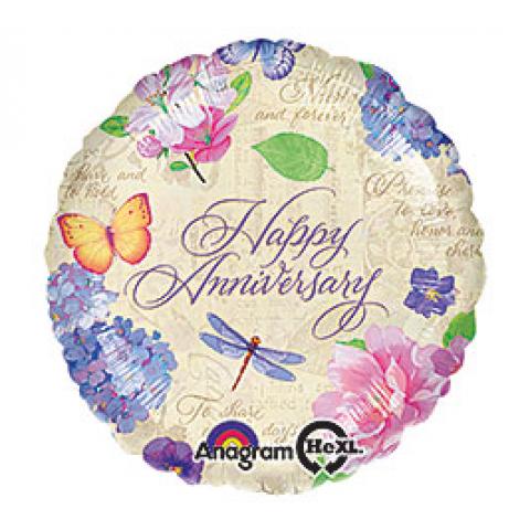 Happy Anniversary Mylar - flowers