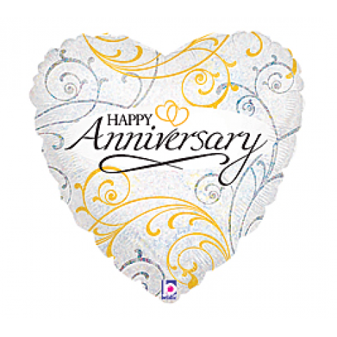 Happy Anniversary Mylar heart