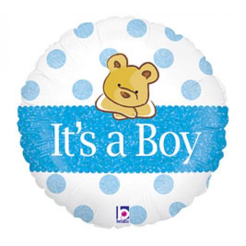 It's a Boy balloon with bear