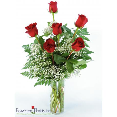Half Dozen Long Stem Roses