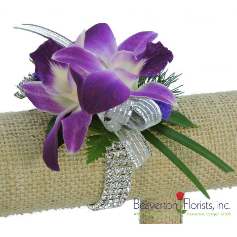 Dazzling Orchids Corsage