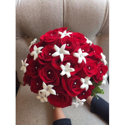 Beaverton Florists Beaverton - Red roses and Stephanotis