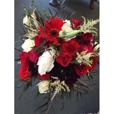 Beaverton Florists Beaverton - Red, white and black wild and fun mix