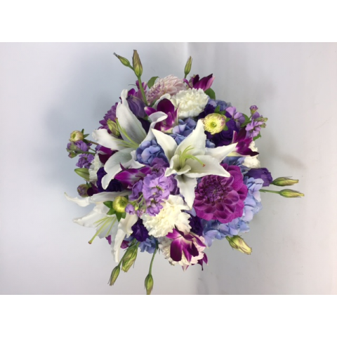 Beaverton Florists Beaverton - Summertime blues with purples and a pop of white.