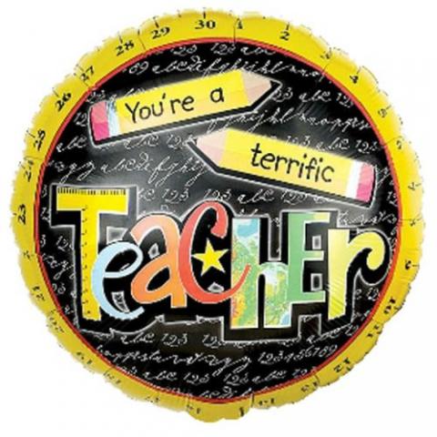 Terrific teacher balloon