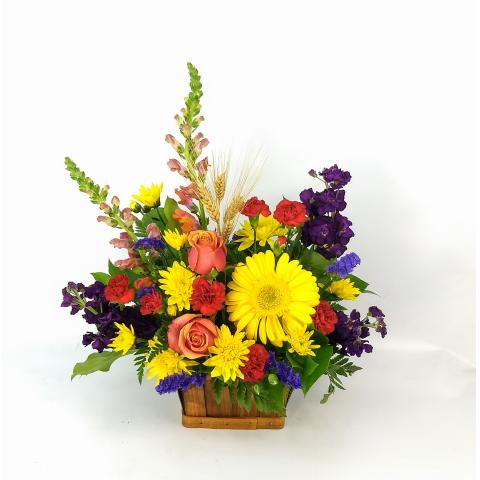 Autumn Basket Blooms