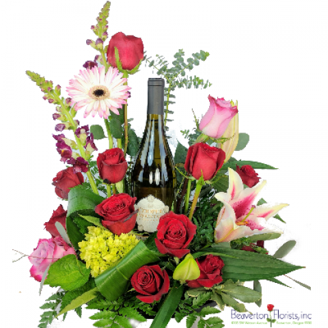 Wine and Roses Bouquet