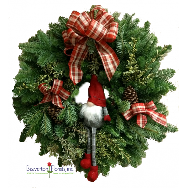 Wreath Gnome Red