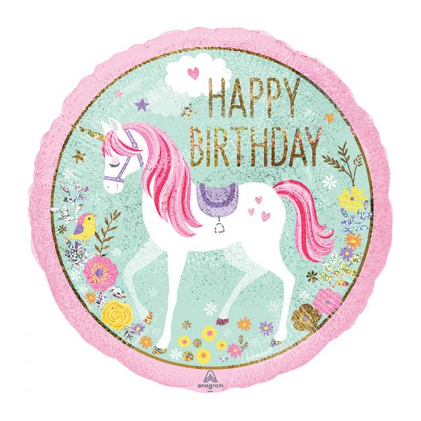 Mylar Unicorn Birthday