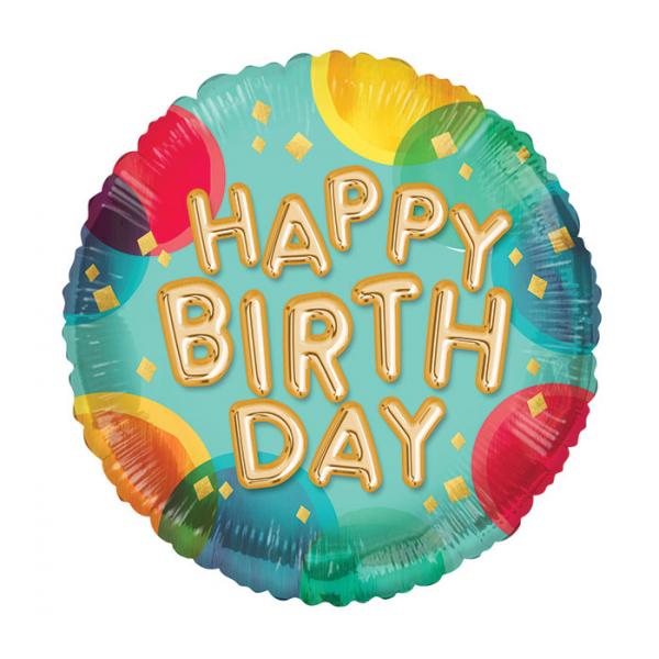 Happy Birthday Mylar Balloon