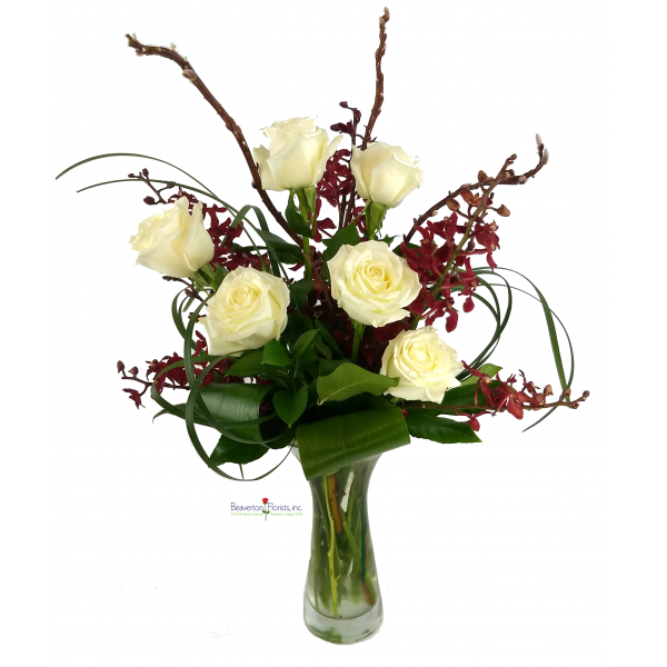 White Rose & Orchids