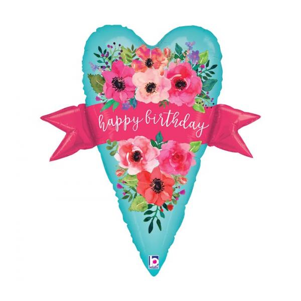 Happy Birthday balloon heart Extra Large