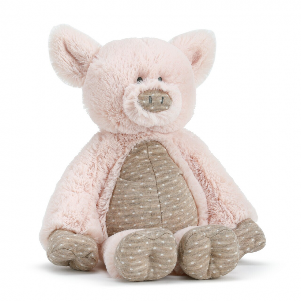 Beaverton Florists Beaverton - The Barnyard Pig Plush is a great gift for any child who could use a snuggler and a friend. As part of the Barnyard Baby Collection, this cuddly friend encourages playtime while learning about animal sounds. Makes a great gift along with coordinating Barnyard Pig Blankie and Barnyard Pig Rattle. Made of soft polyester knit in pink and brown with coordinating polka dot accents.