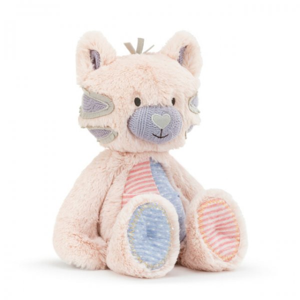 """Beaverton Florists Beaverton - The fun Oddball Plush in Kitty is a wonderful gifting option for any little one on your list. This cuddly plush toy is crafted using super soft materials in a playful kitty shape with bold patterns and bright colors. This cute kitty character features a mismatched colorful tummy and matching paws. This piece is part of the Oddball Collection, a line of silly and odd looking fellows designed to encourage little ones to be comfortable with who they are and to be """"uniquely you."""""""