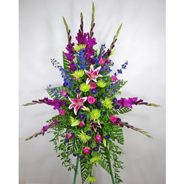 Bright And Beautiful Standing Spray