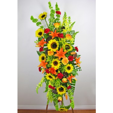 Beaverton Florists Beaverton - This Field of Dreams Standing Spray will evoke thoughts of a sunny day.