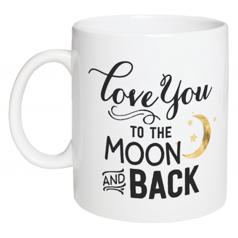 Love you to the Moon and back 15 Ounce Coffee Mug