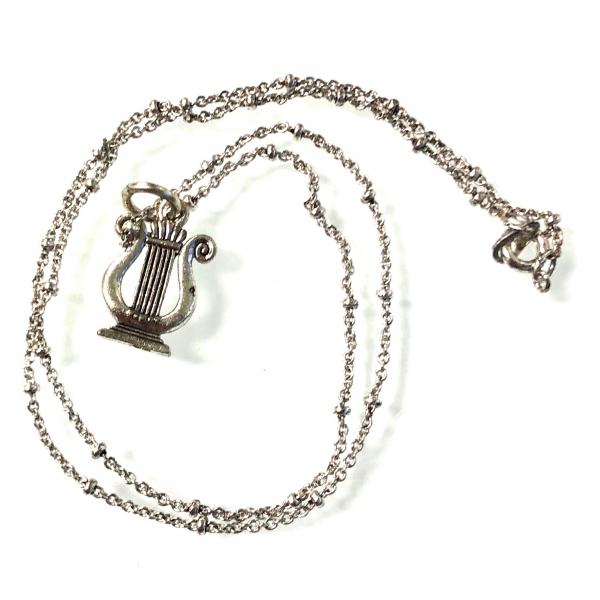 Lyre Charm Necklace