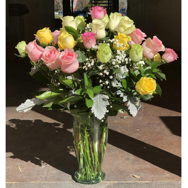 Three Dozen Premium Long Stem Mixed Colors Roses