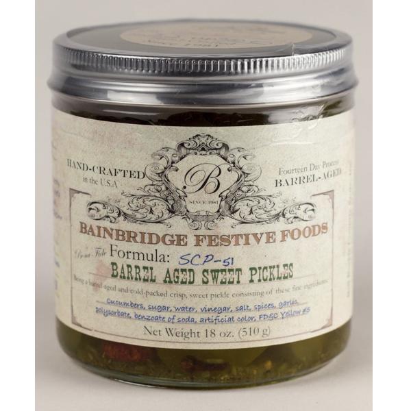 Bainbridge Barrel-Aged Crisp Sweet Pickles