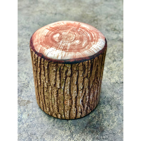 Cabin Fever Cushioned Rustic Log Stool