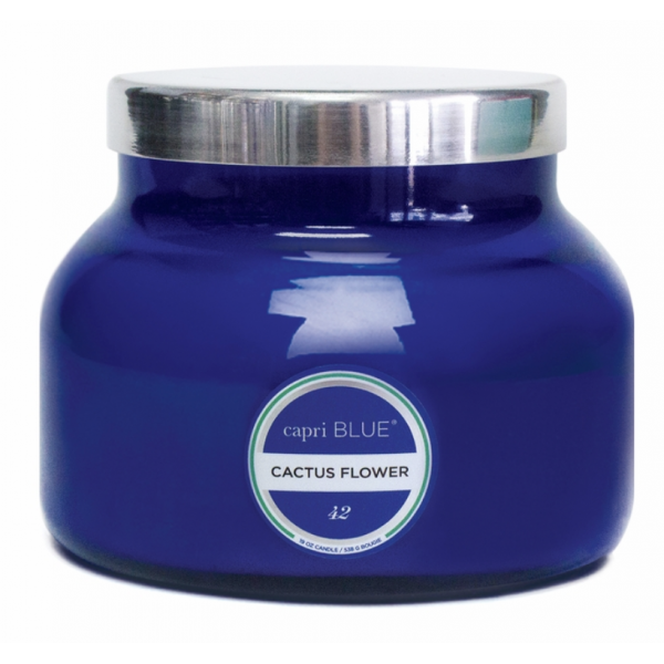 Capri Blue 8oz Blue Cactus Flower Candle