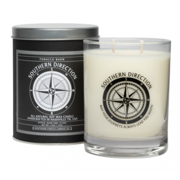 Southern Firefly 12oz Tobacco Barn Glass Candle
