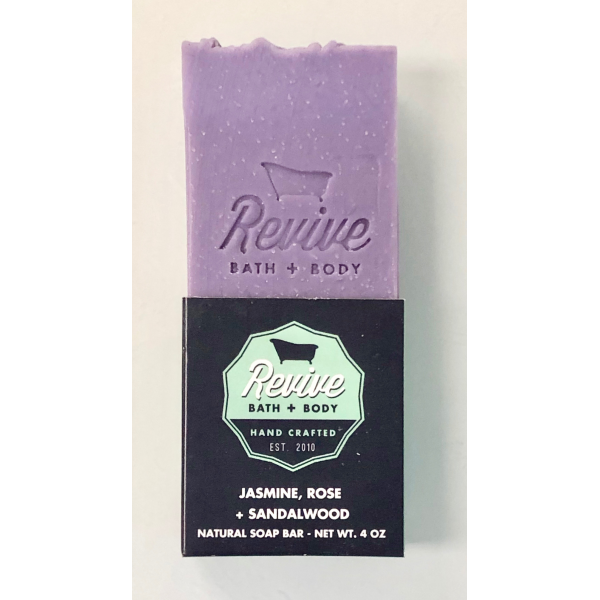 Revive Bath & Body 4oz Jasmine, Rose & Sandalwood Soap