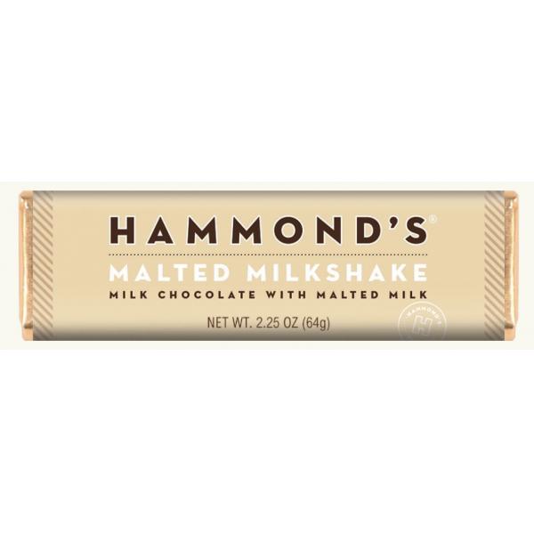 Hammond Malted Milkshake Milk Chocolate Candy Bar