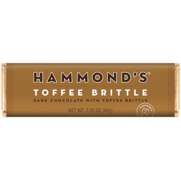 Hammond's Natural Toffee Brittle Dark Chocolate Candy Bar