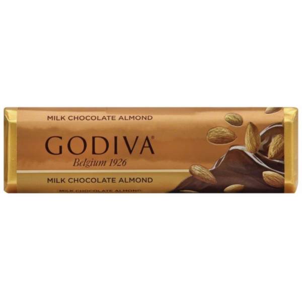 Godiva Solid Milk Chocolate Almond Bar