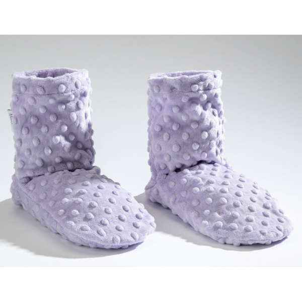 Sonoma Lavender Spa Booties in Classic Lilac Dot Fabric