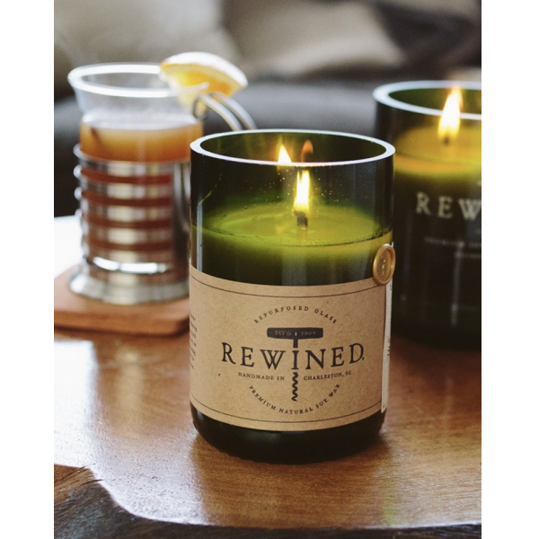 Rewined Spiked Cider Signature Wine Bottle Candle