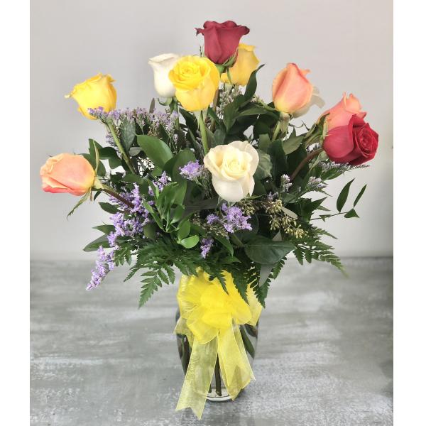 Dozen Premium Mixed Colors Roses