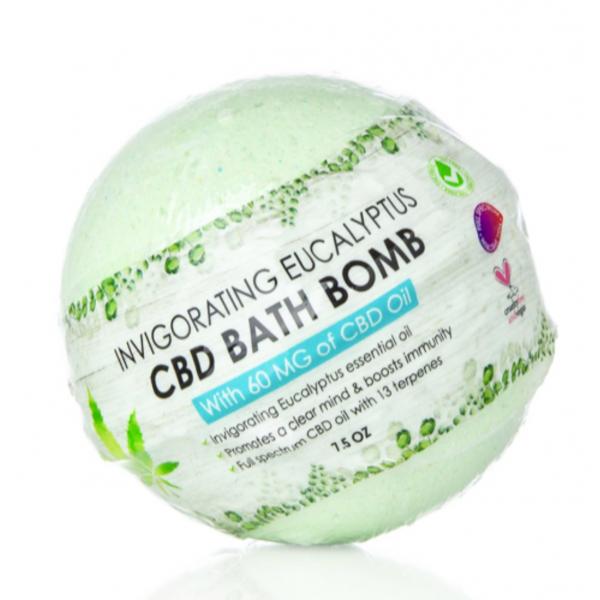 Sky Organics Invigorating Eucalyptus 60Mg CBD Bath Bomb