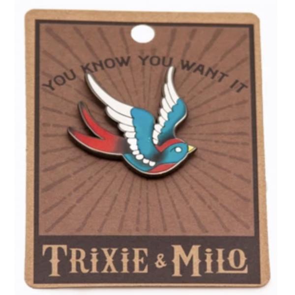 Trixie & Milo Swallow Butterfly - Enamel Pin