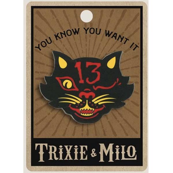 Trixie & Milo Black Cat 13 - Enamel Pin