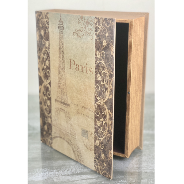 Paris Decorative Book Box - Hidden Secret Storage Jewelry Keepsake