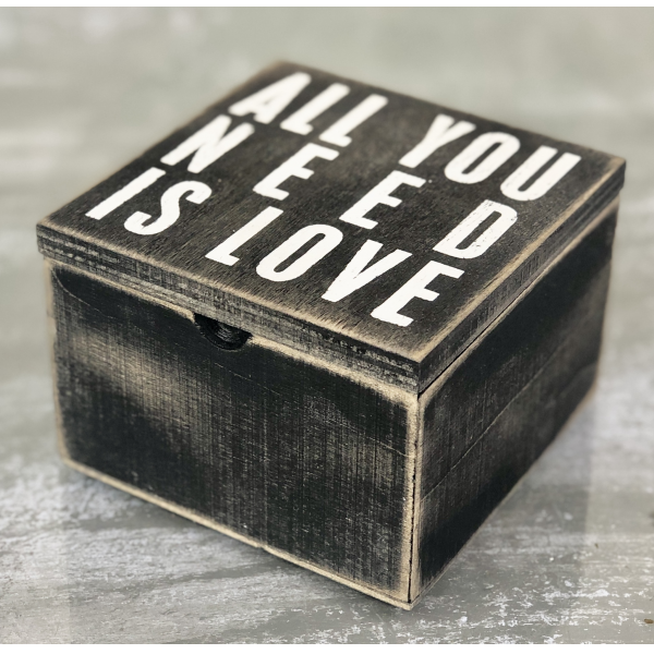 All You Need Is Love Wood Jewelry Box