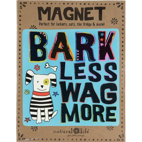 Natural Life Bark Less Car Magnet
