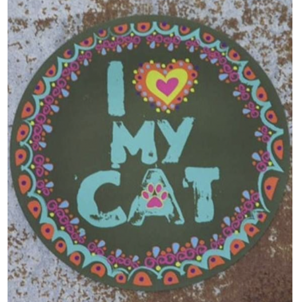 Natural Life I Love My Cat Round Magnet