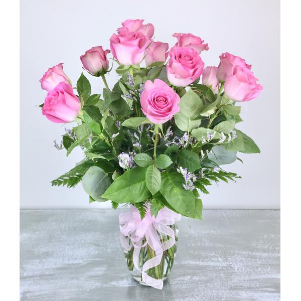 Dozen Premium Pink Roses